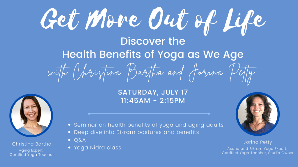 Get more out of life - health benefits of yoga as we age with Christina Bartha and Jorina Petty